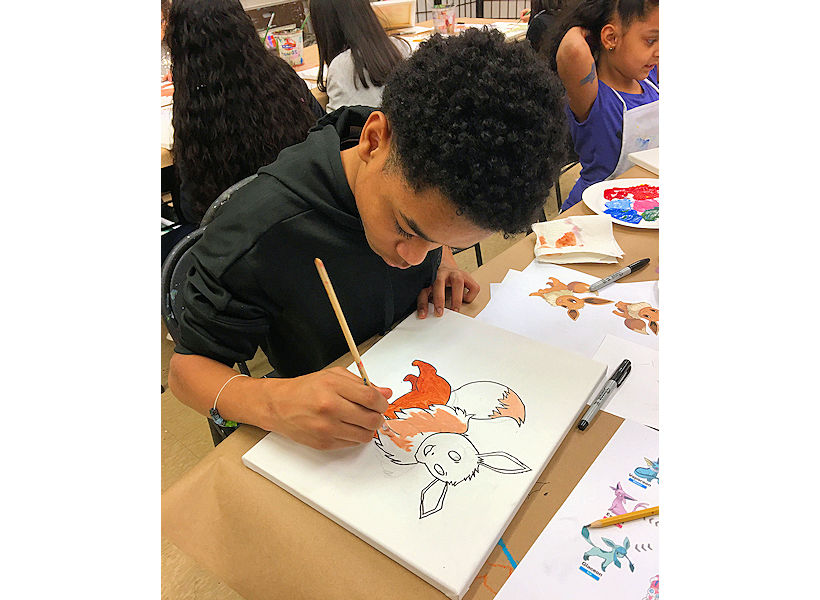 inspiring manga drawing and painting art class for kids at the art studio ny